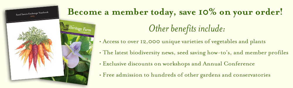Become a member of Seed Savers Exchange
