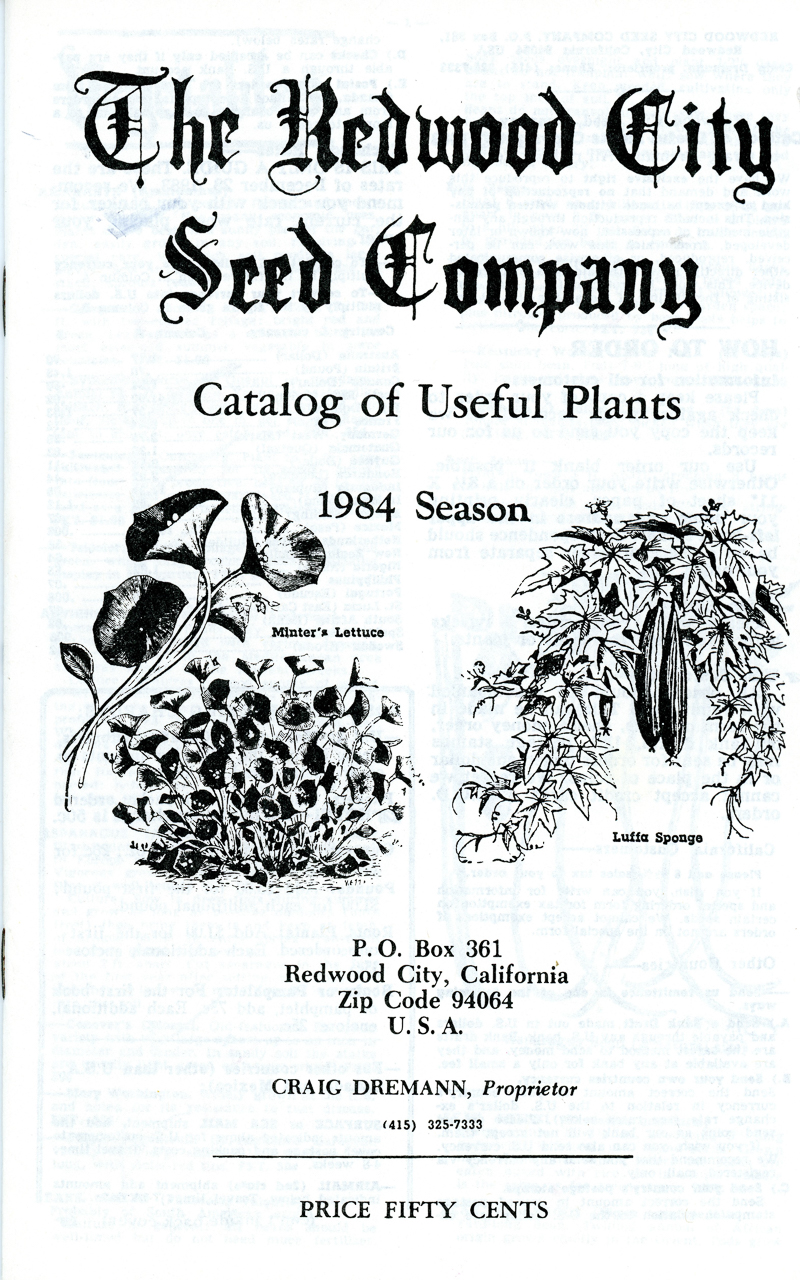 1984 Redwood City Seeds catalog