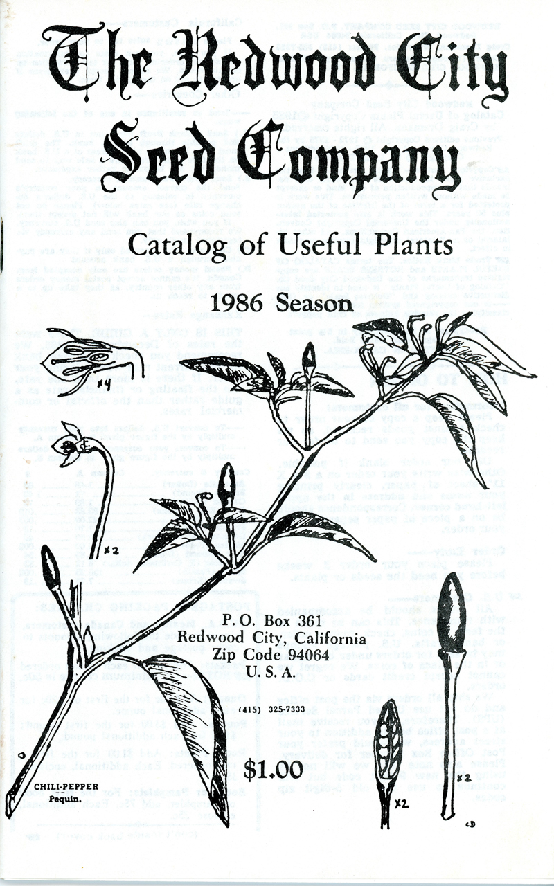 1986 Redwood City Seeds catalog