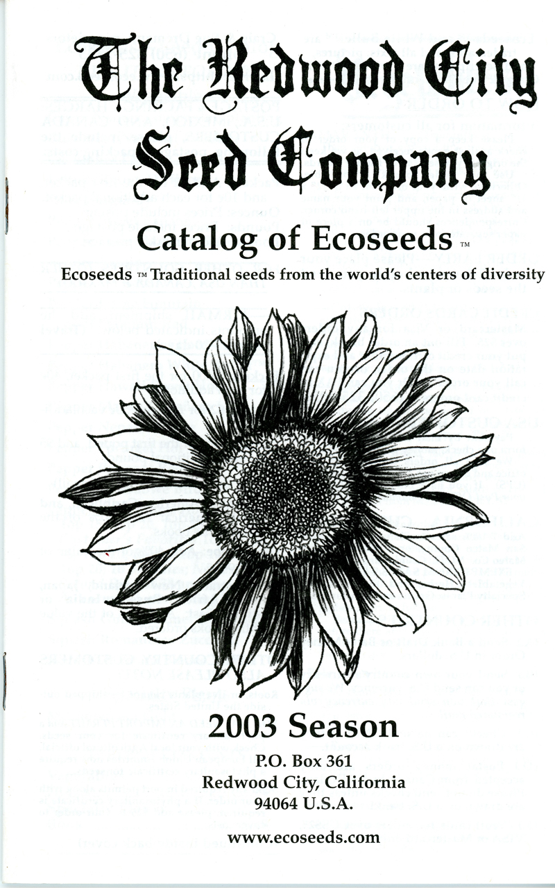2003 Redwood City Seeds catalog