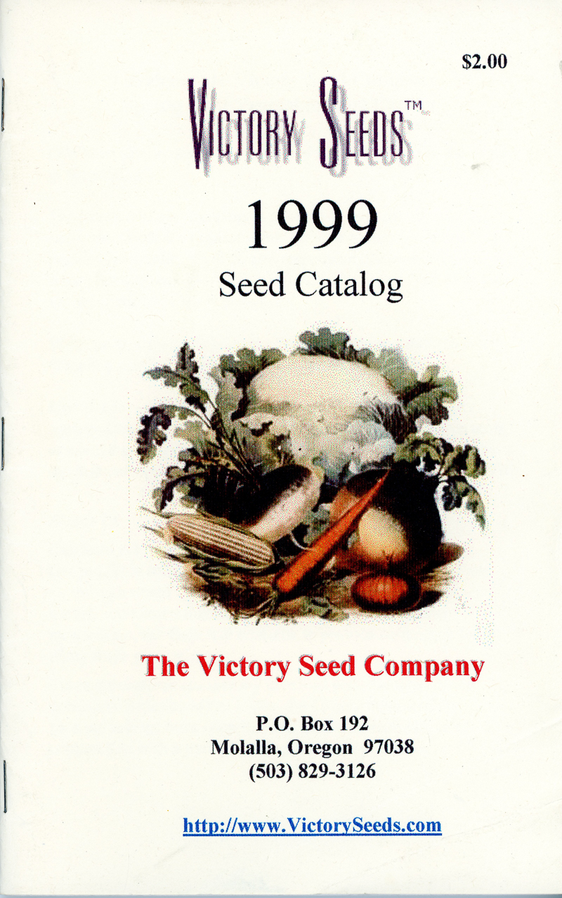 1999 Victory Seeds catalog